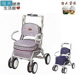 【老人當家 海夫】MAKITECH 銀髮族散步購物車 Carry Peer 花紋紫