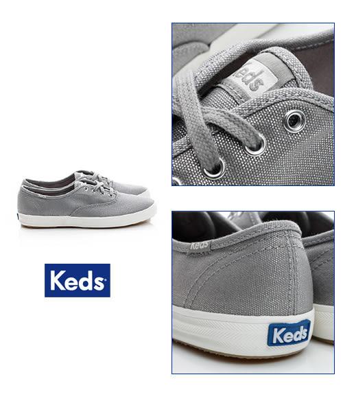 Keds 粉嫩玩色系列 微金屬系休閒鞋-太空銀