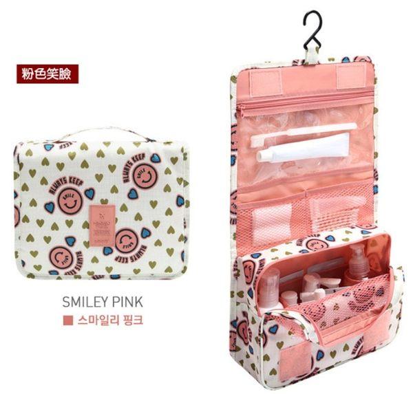 【花色吊掛包】韓系多功能旅行防水 收納袋 /手提式 盥洗包 洗漱包 化妝包 萬用包 兩用收納包