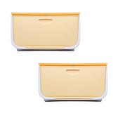 日本IRIS 磁吸整理箱黃L寬54X深42X高31.3CM-2入