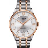 TISSOT 天梭 杜魯爾系列 80小時動力儲存機械錶-雙色版/42mm T0994072203802