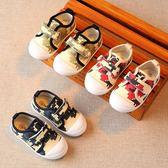男童春秋全館免運兒童帆布鞋球鞋休閒板鞋女寶寶單鞋小童布鞋子1-3歲2