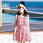兒童泳衣 女童泳衣中大童學生少女12-15歲兒童韓國可愛公主裙式時尚游泳裝 2色
