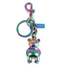 COACH 彩色3D立體泰迪熊造型雙扣環鑰匙圈198214-2
