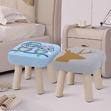 凳子時尚創意布藝小凳子成人實木換鞋凳家用板凳兒童凳沙發凳矮凳