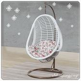 【水晶晶家具/傢俱首選】SY1309-4白馬王子93×93cm白色藤編製吊籃
