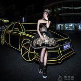 車貼 (45米)3M汽車反光貼紙車身裝飾條自行車貼夜光反光膜爆裂輪轂改裝 俏女孩