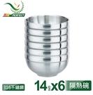 PERFECT 理想極緻316雙層碗6入 14cm (不附蓋) 雙層 隔熱碗