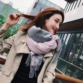📢現貨供應📢夏季女辦公室空調披肩百搭兩面雙色仿羊絨圍巾秋冬季加厚保暖圍脖Y-6粉灰