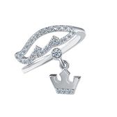 戒指 925純銀 鑲鑽-皇冠造型生日情人節禮物女飾品2色73dx44【時尚巴黎】