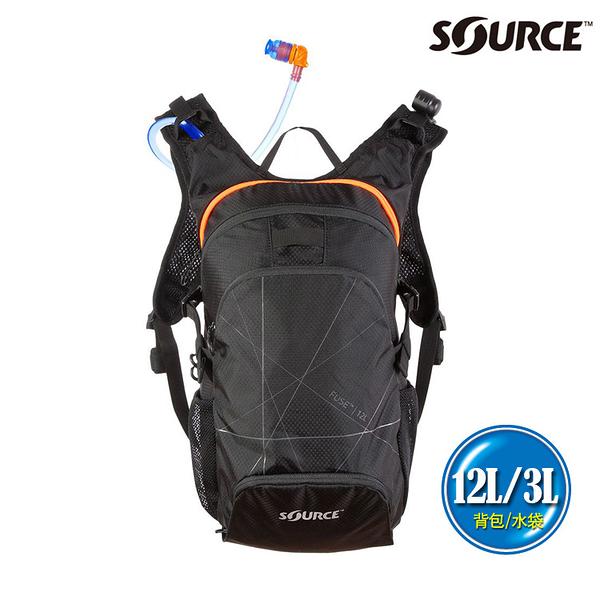 SOURCE 戶外健行水袋背包 Fuse 12L 2054129012 (12L/水袋3L) / 登山 單車 自行車 跑步 補水 抗菌