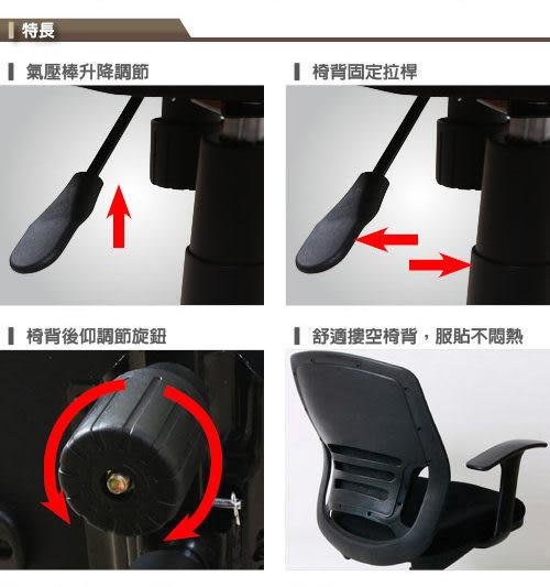 【RICHOME】台灣製 免組裝《小精靈美背辦公椅-3色 》電腦椅 辦公椅 主管椅 學生椅 祕書椅
