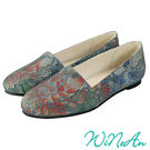 WINEAN薇妮安-蕾絲平底休閒鞋(綠松石)-WNA-1008