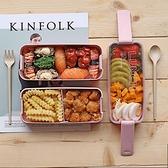 便當盒日式學生少女心飯盒便當盒分隔型微波爐水果沙拉上班族輕食餐盒 童趣屋  新品