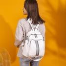 雙肩包女2021新款時尚百搭pu軟皮揹包休閒大容量多用女士包包 父親節特惠