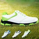 高爾夫球鞋 男款防側滑釘鞋 golf防水f鞋子【藍星居家】