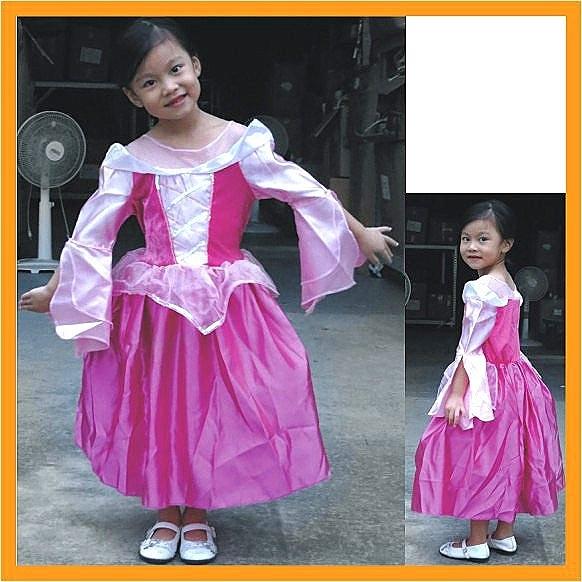 粉紅公主袖 萬聖節服裝.聖誕節服裝表演服裝表演道具可愛公主