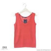 【INI】週慶限定、鄉村無印風格針織多色背心.橙色
