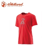 【Wildland 男 仿棉印花抗UV圓領衣《紅》】21612/吸濕/排汗/抗UV/短袖/棉T