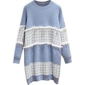 洋氣孕婦裝秋冬裝毛衣連衣裙遮肚不顯懷針織裙子 優拓
