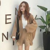 秋冬女裝韓版BF風寬鬆針織衫開衫上衣學生慵懶風長袖休閒毛衣外套