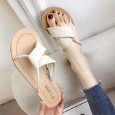 拖鞋女夏外穿新款韓版百搭交叉平底時尚