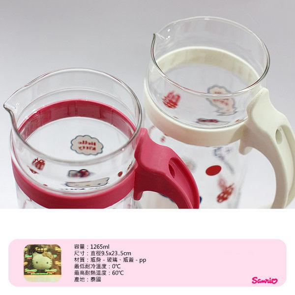 冷水壺 里和Riho Hello Kitty 凱蒂貓冷水壺1265ml 泰國製造 三麗鷗正版
