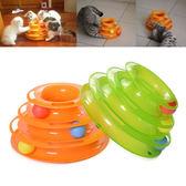 貓玩具轉盤球 逗貓玩具 寵物貓玩具貓球 貓玩具老鼠3層轉球    蜜拉貝爾