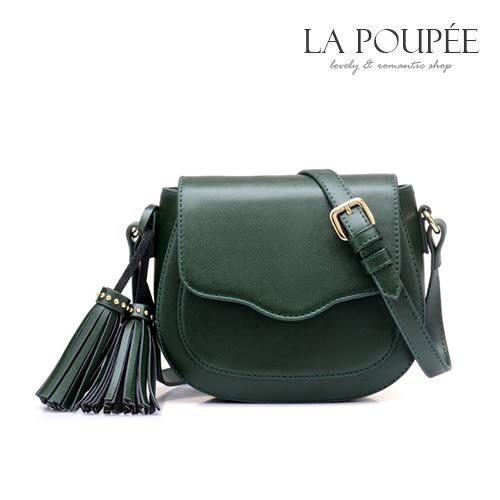斜背包 簡約百搭迷你流蘇馬鞍包 4色-La Poupee樂芙比質感包飾 (現貨+預購)