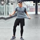 健身服運動套裝男春秋季籃球速干衣透氣寬鬆夜晨跑裝備跑步三件套  快速出貨