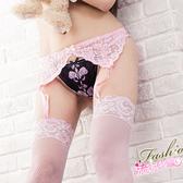 蕾絲吊帶網襪+吊襪帶組合包~性感透膚吊帶襪黑粉紫白紅*流行E線A259