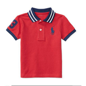 Polo Ralph Lauren polo杉 短袖上衣 紅藍大馬 | 男寶寶衣服(嬰幼兒/小孩/baby)