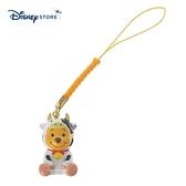 【SAS】日本限定 迪士尼商店 Disney Store 小熊維尼 新年 牛年生肖 手機吊飾 / 公仔吊飾