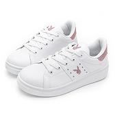 PLAYBOY 微甜色彩 亮蔥兔頭厚底休閒鞋-白金(Y6213)