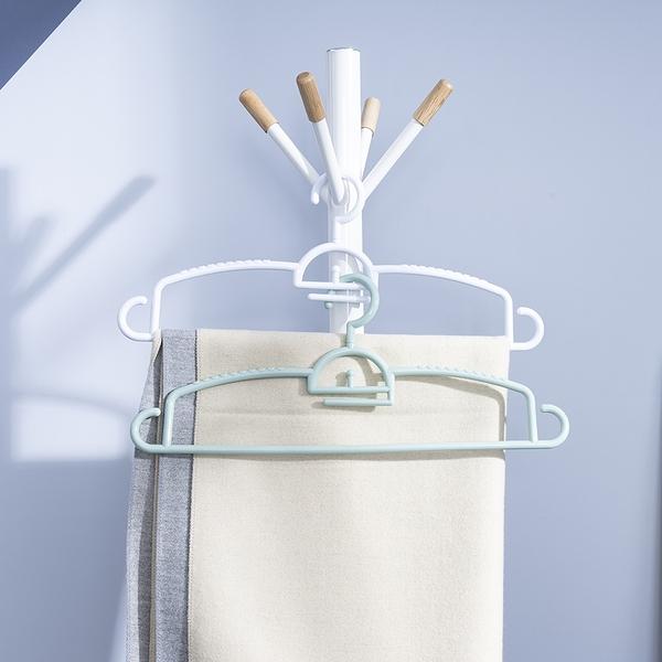 潔淨日常可旋式多功能衣架5入組-白-生活工場