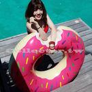 【超取199免運】咬一口甜甜圈游泳圈-120cm 成人 充氣浮圈救生圈加大加厚泳圈