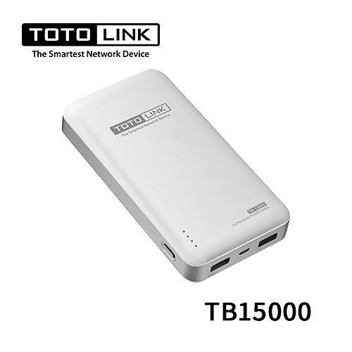 TOTOLINK 超薄快充 15000mah 行動電源 TB15000
