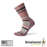 【SmartWool 美國 女 輕量減震徒步印花中長襪《玫瑰粉》】SW001395/短襪/女襪/運動襪/健行襪