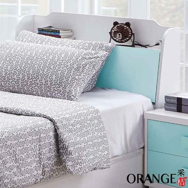 【采桔家居】莉莉安  時尚3.5尺雙色單人床頭箱(不含床底)