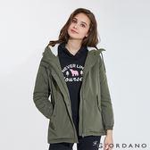 【GIORDANO】 女裝刷毛鋪棉短版連帽厚外套-50 葡萄葉綠