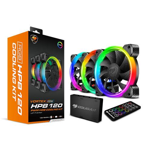COUGAR 美洲獅 VORTEX RGB HPB 120 Cooling Kit 散熱套組 (含3顆風扇及控制器) (CF-V12SET-RGB)