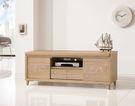 【森可家居】潔雅5尺推門電視櫃 7ZX365-5 長櫃 木紋質感 無印風 北歐風