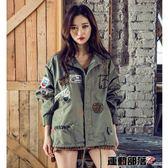 風衣女中長款寬鬆學生春秋新款韓版軍綠色薄款bf風工裝外套潮 運動部落