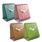 簡約時尚 現代居家 木紋 日式 風格 餐廳客廳臥室床頭 桌上型 靜音座鐘 時鐘 - 粉/藍/綠/原木