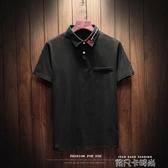 氣球刺繡polo衫短袖t恤男加肥加大碼潮胖修身青年體恤夏季裝薄款 依凡卡時尚