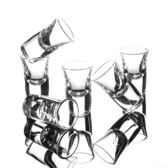 玻璃白酒杯透明厚底小號酒杯一口杯子彈杯烈酒杯家用酒盅杯子