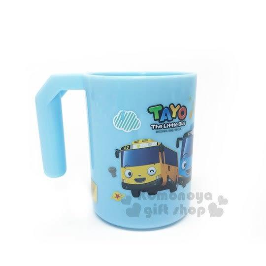 〔小禮堂〕韓國小巴士TAYO 塑膠牙刷杯《藍.紅綠燈》漱口杯.水杯 4718733-22298