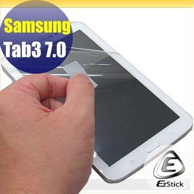 【EZstick】SAMSUNG Tab3 7.0 T2100 / T2110 專用 靜電式平板LCD液晶螢幕貼 (鏡面防汙)(贈CCD貼)