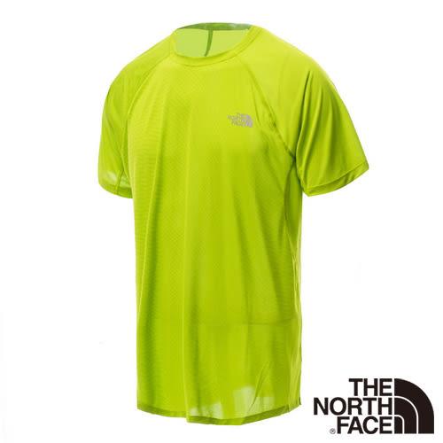 The North Face 男 FLASHDRY短袖T恤-鸚鵡綠 NF00CA1XZ3L-AA【GO WILD】