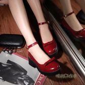 洛麗塔鞋子日常蘿莉鞋Lolita軟妹學生萌妹子日系小皮鞋可愛娃娃鞋「時尚彩虹屋」